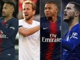 Neymar, Kane, Mbappe y Hazard, los candidatos