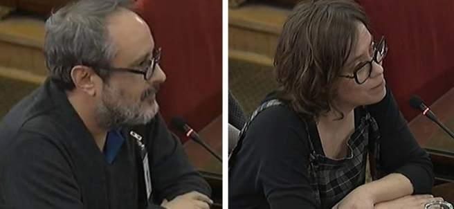 Antonio Baños y Eulalia Reguant declaran como testigos en el Supremo por el juicio del procés.