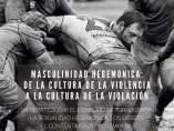 Cartel que vincula el rugby con la violencia machista