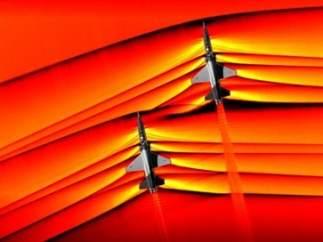 Tecnología fotográfica de la NASA que capta la interacción de ondas de choque.