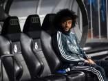 Marcelo, en el banquillo del Real Madrid.