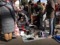 Los vendedores del mercadillo ambulante de Atocha