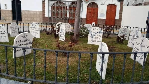 Lápidas colocadas en El Saucejo
