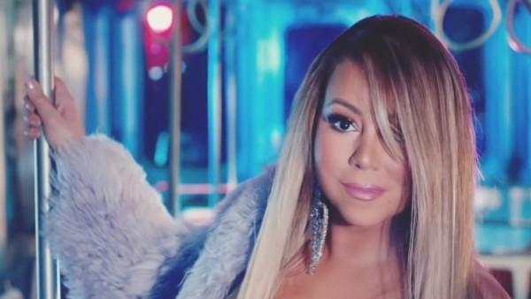 Mariah Carey en un vagón de metro