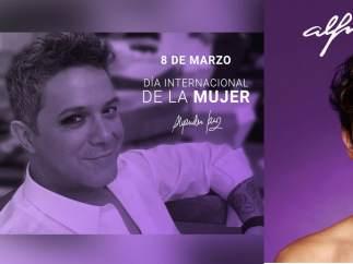 Alejando Sanz y Alfred García son criticados en Twitter por el 8-M