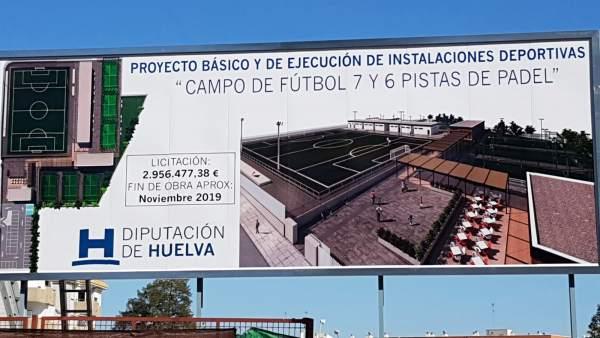 Huelva.- Diputación adjudica la ejecución de la segunda fase de construcción del