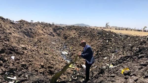 Foto del siniestro en Etiopía