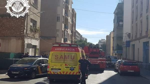 Castellón.- Sucesos.- Hospitalizado un hombre de 63 años tras sufrir quemaduras