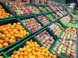 Frutería en un supermercado.