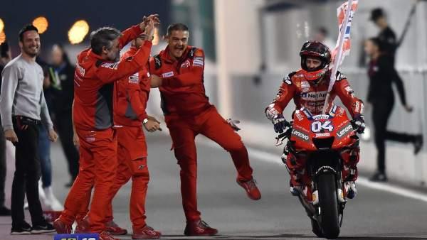 Andrea Dovizioso celebra su victoria