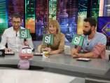 Pablo Motos, Ingrid García Jonsson y Dani Rovira, en 'El hormiguero'.