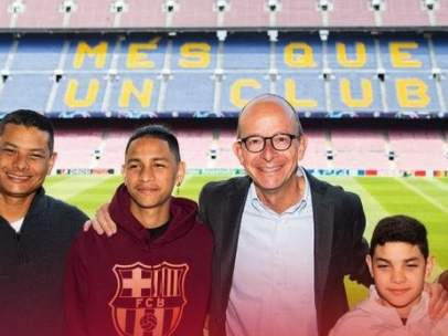 Anthony Borges, en el Camp Nou.
