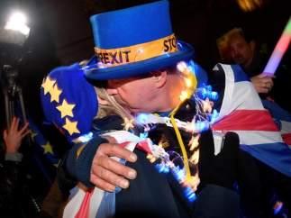 Manifestantes en contra del 'brexit'
