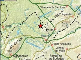 Cádiz.- Sucesos.- Registrado un terremoto de magnitud 4 en Olvera