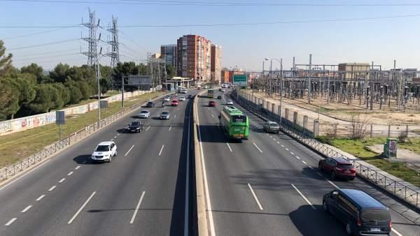 Carretera A-5, a la altura de la carretera de Boadilla