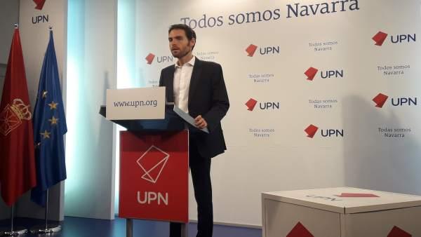 Sayas se presenta a las primarias de UPN al Congreso con 'la ilusión de defender