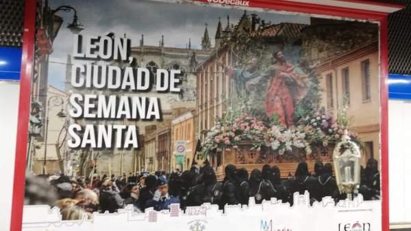 La Semana Santa de León se promociona en 70 estaciones de Metro de Madrid y en o