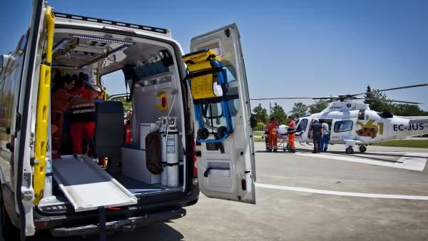 Sevilla.-Sucesos.- Heridas leves dos mujeres tras una colisión entre un autobús