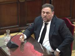 """Oriol Junqueras en la declaración del juicio del """"procés""""."""