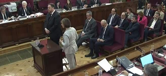 Interrogatorio a Junqueras en el juicio por el procés