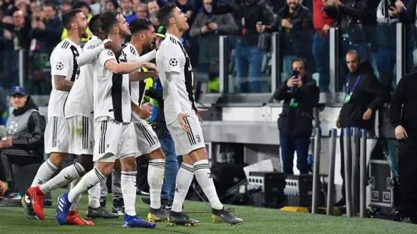 La Juventus celebra uno de sus goles al Atlético de Madrid.