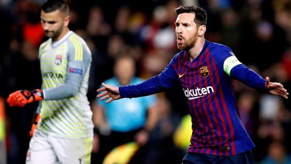 Gol de Messi al Lyon