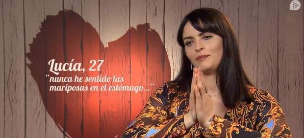 Lucía, en 'First dates'.