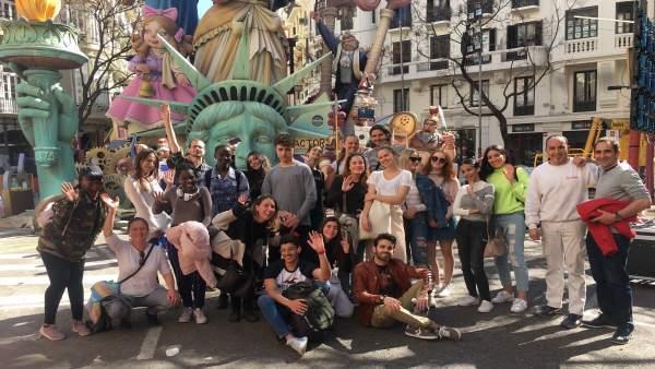 Fallas.- Estudiantes del CEU de 20 nacionalidades aprenden arquitectura en el mo