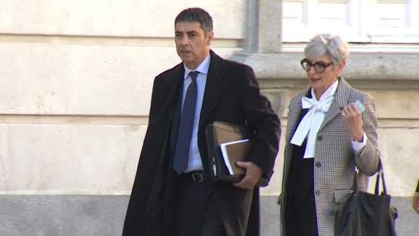 Trapero llega al Tribunal Supremo durante el juicio del 'procés'.