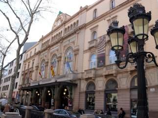 Imagen actual de la fachada del Gran Teatre del Liceu.