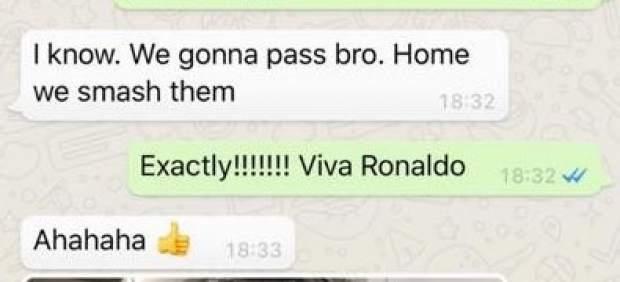 Evra y Cristiano Ronaldo