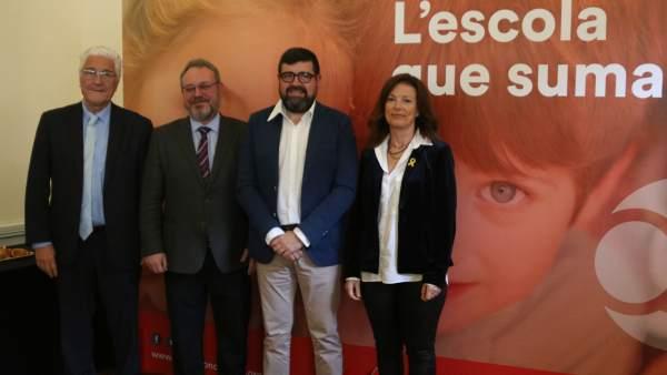 Los cuatro responsables de las escuelas concertadas en Catalunya.