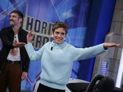 María León y Jon Plazaola, en 'El hormiguero'.