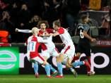 Gol del Slavia al Sevilla
