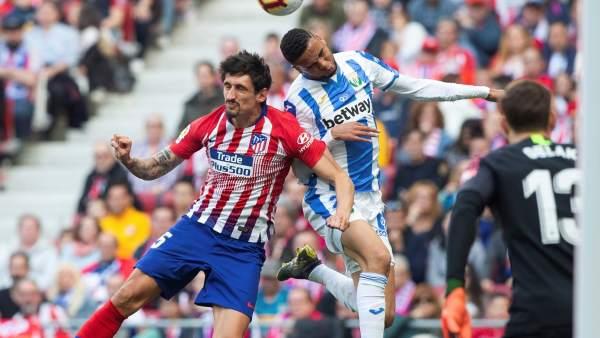 Savic, en el duelo ante el Leganés.