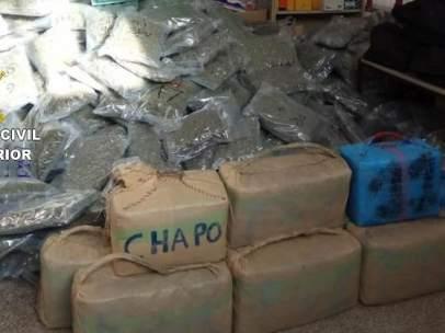 La droga encontrada por la Guardia Civil en la Junquera.