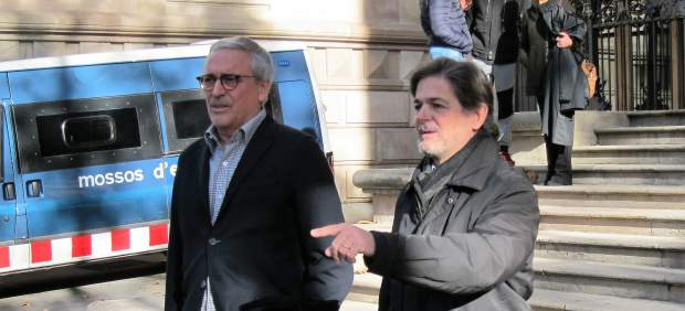 Oriol Pujol Y Su Abogado Xavier Melero.