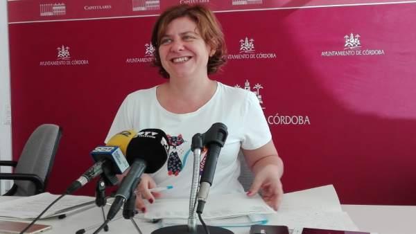 Alba Doblas en el Ayuntamiento