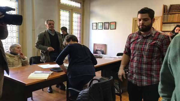 Oviedo.- Rubén Rosón presenta una denuncia contra quienes le impidieron el acces