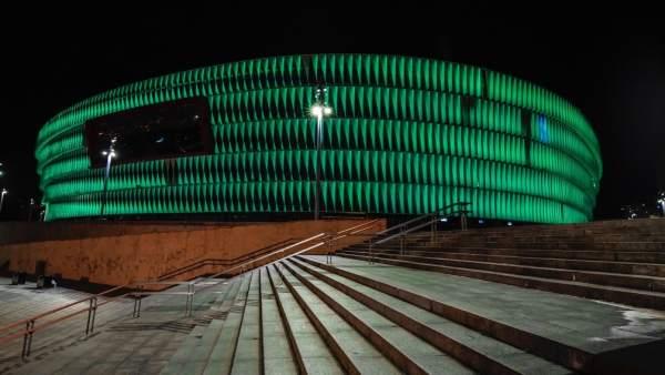 San Mamés se teñirá de verde este fin de semana para celebrar San Patricio