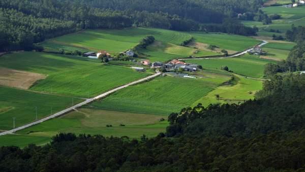 Zona de Val de Campiña, en Corcoesto