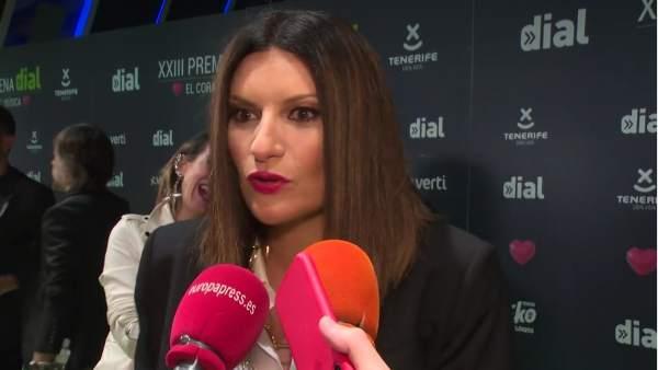 Laura Pausini en la gala de los Premios Cadena Dial.