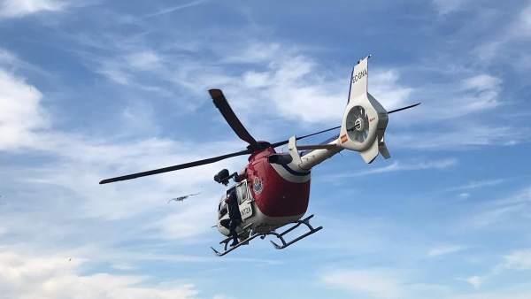 Evacuado en helicóptero tras sufrir una paraca cardiorrespiratoria en el monte K