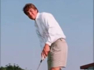 El golfista Scott Peterson, de joven