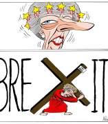 'May y el brexit', viñeta de Asier.
