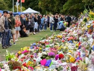 Memorial por las víctimas de la masacre de Nueva Zelanda