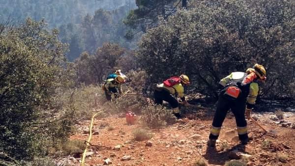 Incendios.- Controlado el incendio forestal declarado en Paterna del Madera (Alb