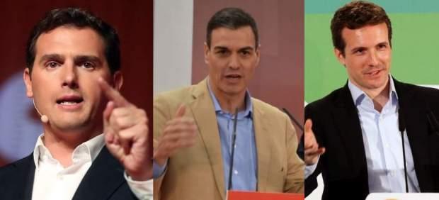 Rivera, Sánchez y Casado