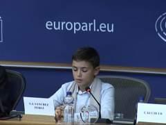 Sergio Sánchez, en su discurso en el Parlamento Europeo.