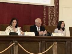 Los conferenciantes de la jornada 'Integrando la diversidad de género en la política exterior'.